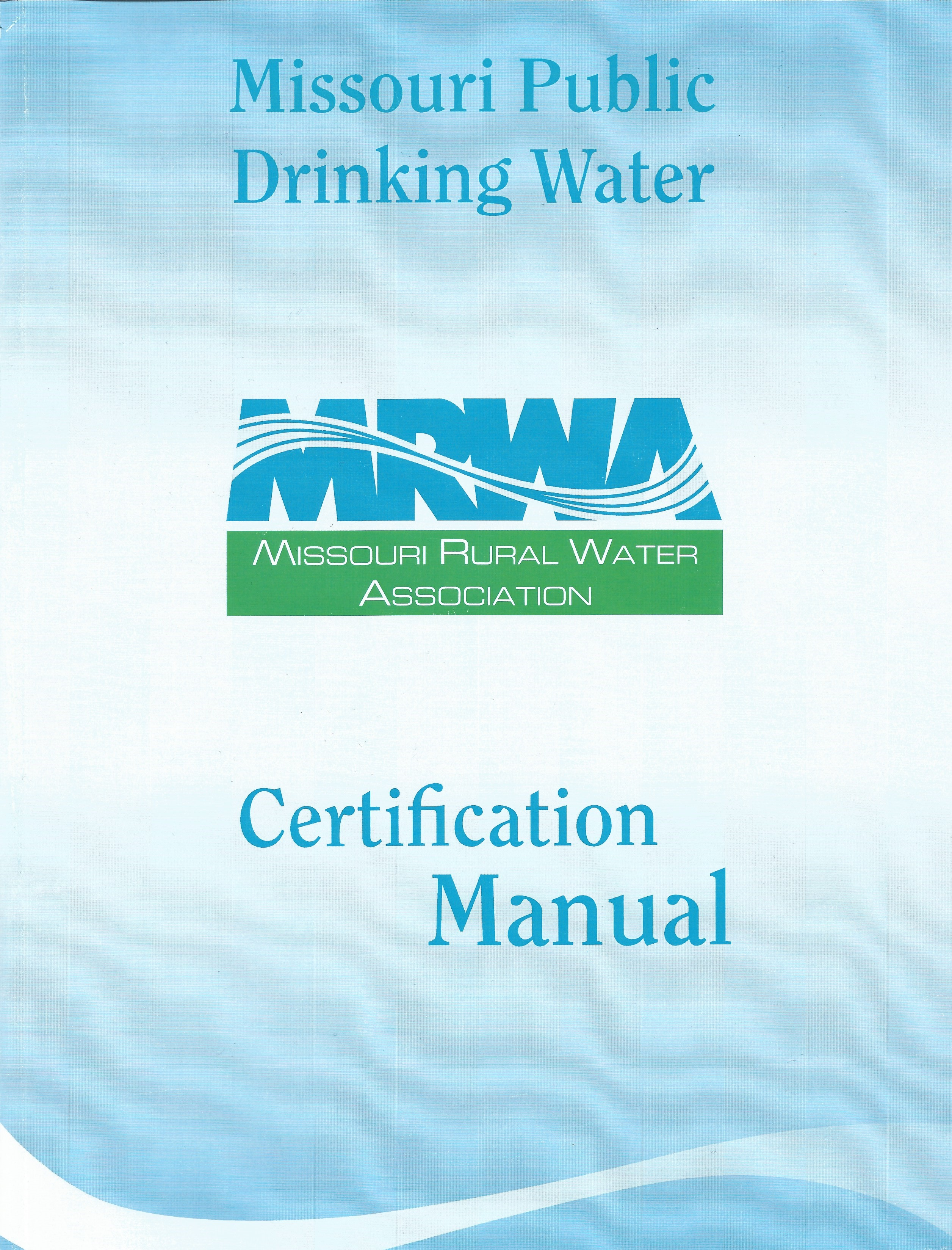 Drinking Water Certification Manual